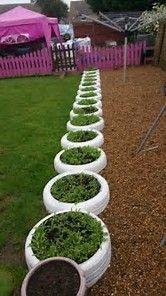 Resultado de imagen de Recycled Tire Retaining Wall
