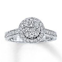 Jared - Diamond Ring 1 ct tw Round-cut 14K White Gold
