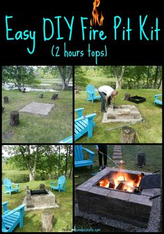 Easy DIY Fire Pit w/ Grill…we put this together in under 2 hours!