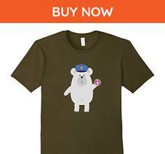 Mens Polar Bear Police Officer T-Shirt for Women, Men and Kids Medium Olive - Animal shirts (*Amazon Partner-Link)