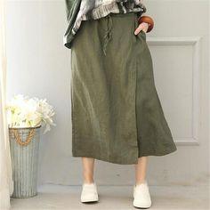 BUYKUD verano mujeres algodón Lino Pantalón ancho pantalones más tamaño  sólido Irregular cintura elástica pantalones Harem pantalones holgados  pantalones ... 58dd38920832