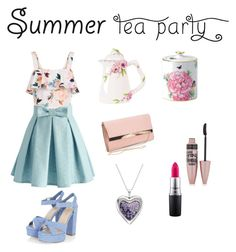 """""""Tea time!"""" by rvrule on Polyvore featuring interior, interiors, interior design, home, home decor, interior decorating, New Look, Chicwish, Fitz and Floyd and MAC Cosmetics"""