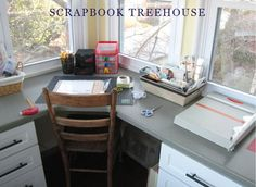I WanT One.......!!! Mary Jo Rhoda's scrap space in a tree! From Creating Keepsakes magazine.