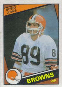 Bobby Jones 1984 Topps #54 football card Football Cards, Nfl Football, American Football, Football Helmets, Baseball, Cleveland Browns History, Cleveland Browns Football, Spiderman Spider, Football Conference