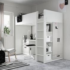 Loft Ikea, Loft Beds For Small Rooms, Loft Bed Room Ideas, Tiny Bedrooms, Loft Beds For Teens, Cool Loft Beds, Cabin Beds For Teenagers, Cool Beds For Kids, Bedroom Ideas
