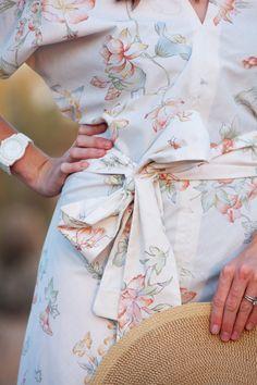 bedsheet --> kimono dress.  love it!