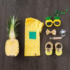 Pineapple Print Moccasins for Kids, Babies, Handmade Moccasins, Mason and Kourtney Kardashian   Freshly Picked Moccasins
