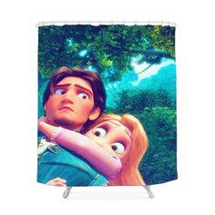 Tangled Rapunzel Shower Curtain