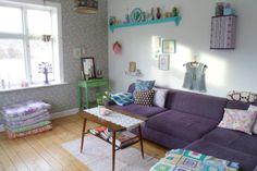 bang bang: home sweet home Pastel Colors, Room Inspiration, Bangs, Living Spaces, Bang Bang, Sweet Home, Couch, Crafts, Furniture