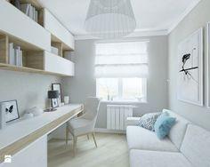Mieszkanie w Gdańsku - Biuro, styl skandynawski - zdjęcie od katadesign