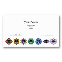 7 Chakras Business Cards