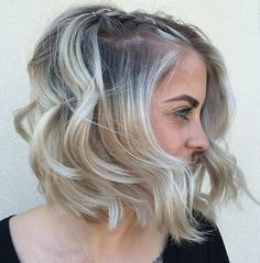 Wavy Blonde Balayage Bob Hairstyle