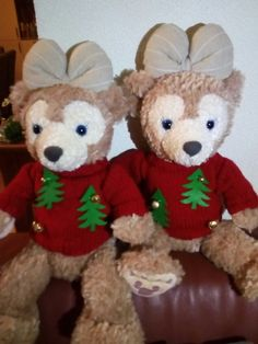 Christmas sweaters for Shellie May made by Nancy Heijblom