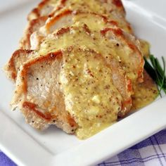 Pan Seared Pork Chops with Dijon Butter Sauce - a quick weekday meal need not be complicated or boring. Our dinner tonight was these simply seasoned, pan fried pork chops which were complimented beautifully with a simple sauce comprised of only 4 ingredients.