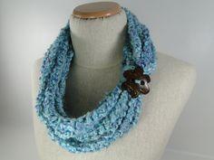 Crochet Pattern - Infinity Scarf Crochet Pattern #401 - Instant Download PDF
