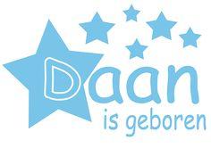 Geboortesticker type Daan