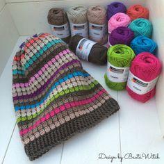 Catania till mössa med häng/slouchy beanie by BautaWitch Crochet Slouch Beanie, Slouchy Beanie, Crochet Mittens, Cute Crochet, Beanie Hats, Knitted Hats, Knit Crochet, Crochet Hats, Beanies