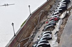 A spokeswoman for the Florence mayor's office described the scene after a pipe burst beneath a road alongside the Arno River in Florence, Italy, early on Wednesday, near the famous Ponte Vecchio.