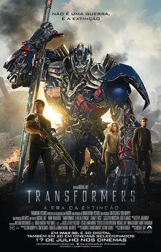 """Cartaz nacional do filme """"Transformers 4: A Era da Extinção"""" http://cinemabh.com/imagens/cartaz-nacional-do-filme-transformers-4-a-era-da-extincao"""