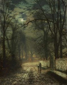 Une ruelle au clair de lune - (John Atkinson Grimshaw)