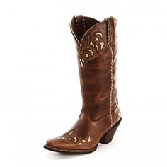 Durango Embroidered Sassy Brown Cowgirl Boots. Western with some Sass!
