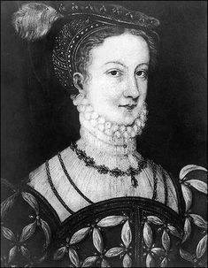 Mary, Queen of Scots pictured at the age of 16 in 1558 - the year she was married to the Dauphin of France, the future King Francis II. Painting in the Devonshire Collection, by an unknown artist.