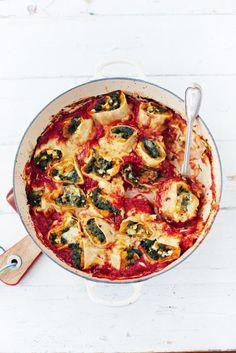 squash & spinach pasta rotolo