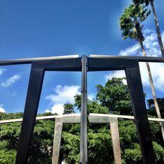 Form, function and palm trees.  #BallyArtBaselMiami #Triangle Walks
