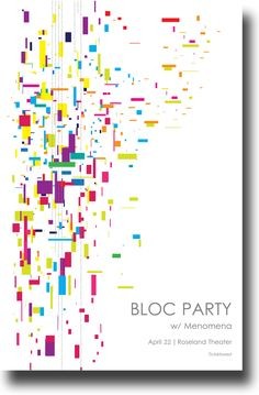 Bloc Party Poster Concert $9.84 #BlocParty