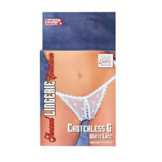 CLICK IMAGE TWICE FOR PRICING AND INFO :) #women #panties #lingerie #crotchlesspanties #lace #sexylingerie #intimates #undergarment #honeymoon #bikini #satin #hipster see more crotchless panties at http://zpanties.com/category/panties-categories/crotchless-panties/  - Sensual Lingerie Collection Crotchless G Panties – White Lace « Z Panties