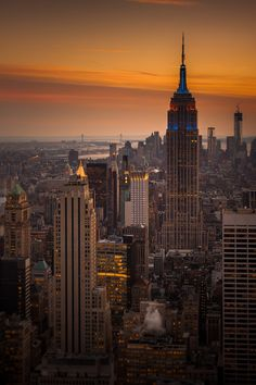 NYC sunset by Frank Hazebroek