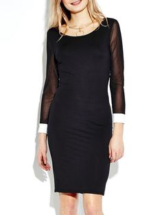 Hollow out bodycon dress long sleeve sexy contrast color dress sexy dresses ebay #sexy #dresses #cheap #sexy #dresses #discount #code #sexy #dresses #online
