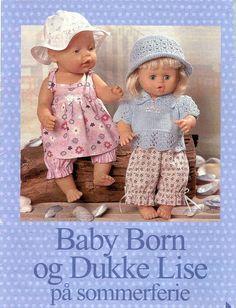 Album Archive - Dukketøj til Baby Born 1 - Ingelise Baby Born Clothes, Girl Doll Clothes, Girl Dolls, Baby Dolls, Doll Dress Patterns, Baby Alive, Sewing Dolls, Bitty Baby, Knitted Dolls