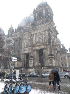 Berlin Cathedral! I've been there, but there was no snow