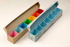 Origami Pill Box / Organizer Video Tutorial #origami #pillbox #box #origamibox #tutorial #instructions #diy