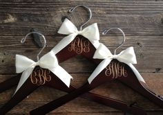 Bridesmaid Hangers Monogram Hanger Monogram by GetHungUp on Etsy (Diy Wedding Hanger) Handmade Wedding, Diy Wedding, Dream Wedding, Wedding Stuff, Wedding Ideas, Wedding 2017, Wedding Goals, Wedding Trends, Wedding Favors