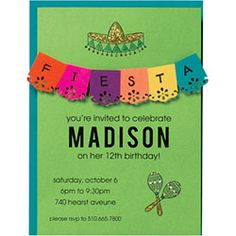 DIY recipe for a colorful invitation perfect for spring and summer fiestas!