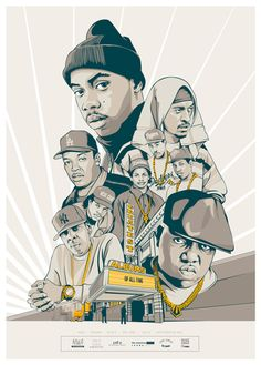 This poster presents the Artists who released the Greatest Hip Hop Albums of all Time. Nas with Illmatic on top and then Rakim with Paid In Full, NWA with Niggaz4Life, Dr Dre with The Chronic, Jay-Z with Reasonable Doubt and Notorious BIG with Ready to Di…