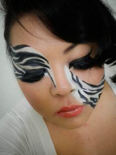 Zebra Makeup On Pinterest Tiger Makeup Animal
