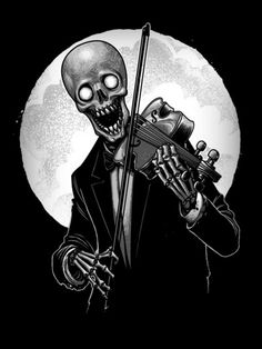 Play The Song Of Death - Skeleton Playing Violin T Shirt Zombies, Street Art, Skeleton Art, Gothic House, Canvas Prints, Art Prints, Skull And Bones, Memento Mori, Halloween Art