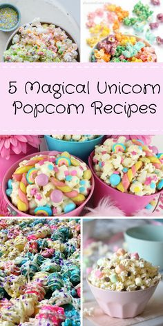 5 Simple Unicorn Popcorn Recipes | Party with Unicorns