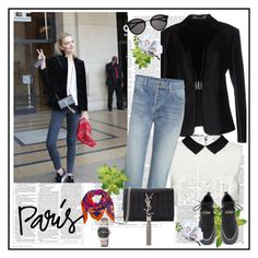 """I Love Paris In the Fall♥♥♥"" by marthalux ❤ liked on Polyvore featuring Gucci, Alice + Olivia, Yves Saint Laurent, Balmain, Hermès, Victoria Beckham, StreetStyle, paris, fallstyle and falltrend"