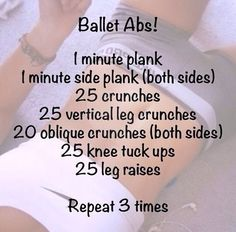 Love to dance? Get Ballet abs with this simple at home routine. Turn up the music!