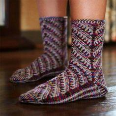 Nelly's Bosnian slippersNellys Bosnia tofflor pattern Ravelry
