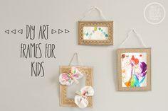 Upcycled Cardboard Frames for Kids - Brilliant! Cadre Photo Diy, Cadre Diy, Frame Crafts, Diy Frame, 5x7 Collage Frame, Art Frames, Cardboard Picture Frames, Cardboard Display, Diy Cardboard