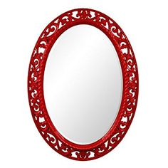 Save 89%- Howard Elliott Collection 2123R Suzanne Mirror, Red