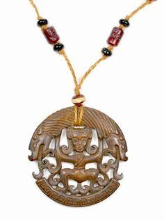 Dragons anciens et authentiques Diva sculpté collier de jade de Talisman Amulette rouge foncé de Feng Shui & Fortune Jewelry, http://www.amazon.fr/dp/B00FM4AVL2/ref=cm_sw_r_pi_dp_9Q4xsb1Y3XX5B