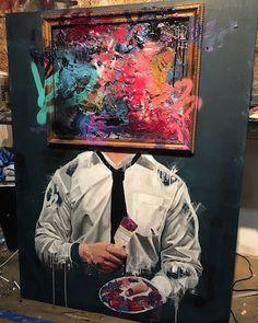 Raffinierte Mischung aus Stillleben und Porträt mit einem Hang zum Surrealismus – Sage Barnes ist ein Streetart-Künstler besonderer Art   Kein schlichtes Graffito und nicht einmal ein aufwendig gemaltes Mural – nein, die Kunst von Sage Barnesist nichts davon. Trotzdem sind seine ...  #Epoche #künstler #stil