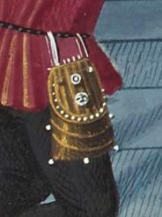 Le Mirouer historial de VINCENT de Beauvais, traduction de JEHAN DU VIGNAY 1401-1500  Français 50  Folio 79v Belt Purse, Belt Pouch, Beauvais, Frame Purse, 14th Century, Purses And Bags, Medieval, Costume, Random