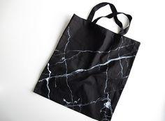 Diy – Black Marble Tote Bag